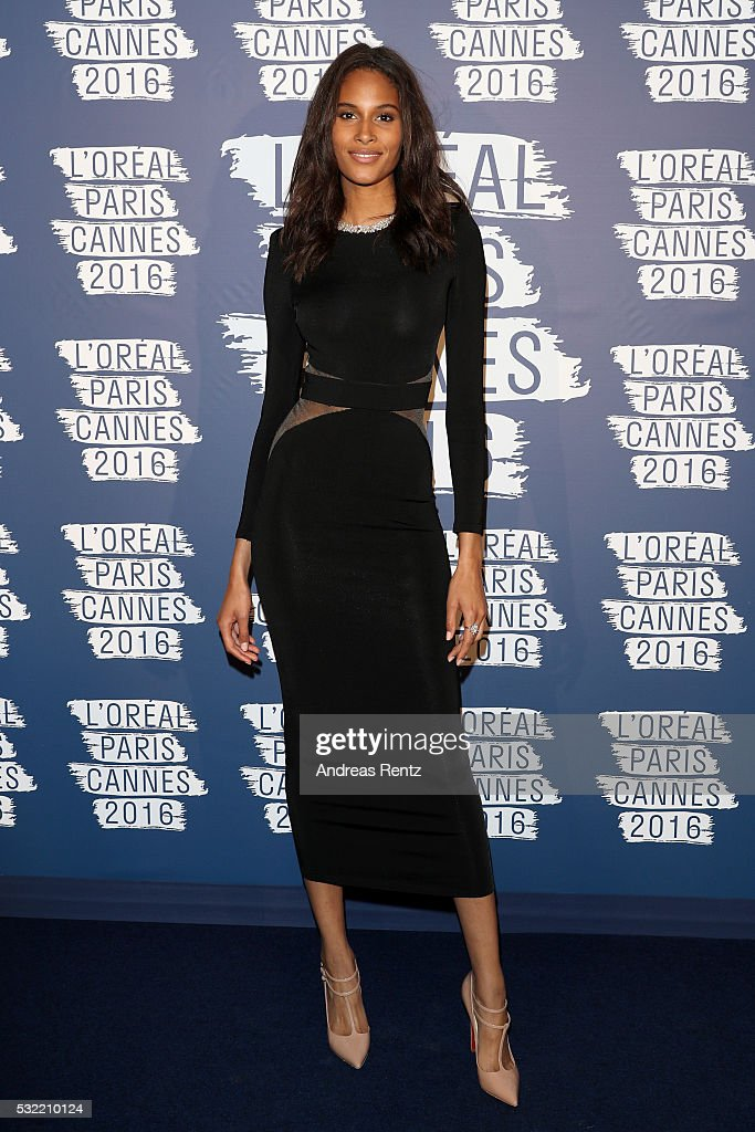 Cindy Bruna attends the L'Oreal Paris Blue Obsession Party at the annual 69th Cannes Film Festival at Hotel Martinez on May 18 2016 in Cannes France