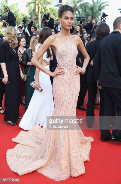 Cindy Bruna attends the 'The Beguiled' screening during the 70th annual Cannes Film Festival at Palais des Festivals on May 24 2017 in Cannes France
