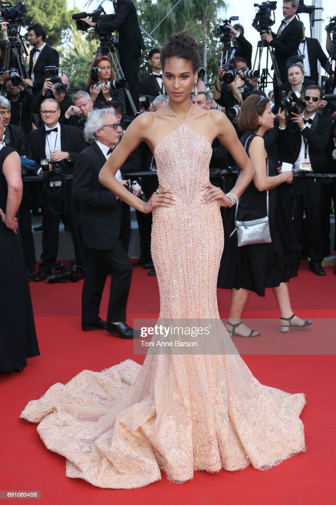 Cindy Bruna attends the 'The Beguiled' screening during the 70th annual Cannes Film Festival at Palais des Festivals on May 24, 2017 in Cannes, France.