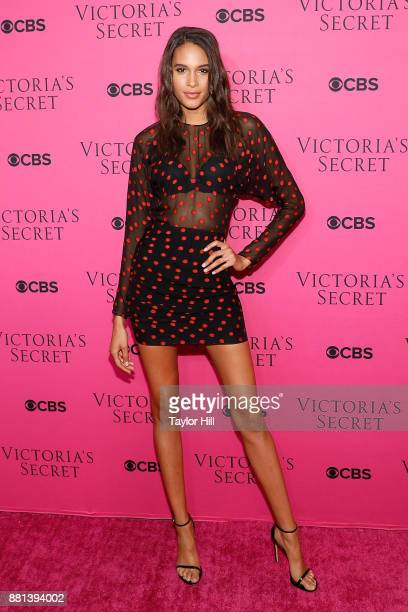 Cindy Bruna attends the Victoria's Secret Viewing Party Pink Carpet celebrating the 2017 Victoria's Secret Fashion Show in Shanghai at Spring Studios...