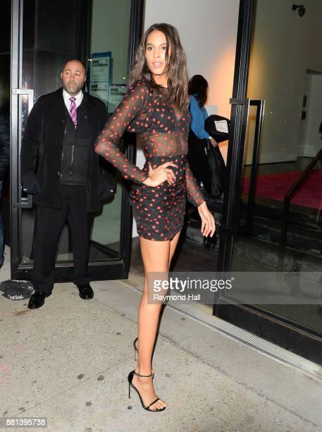Cindy Bruna is seen Iin Soho on November 28 2017 in New York City