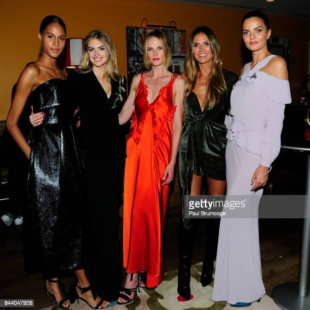 Cindy Bruna Kate Upton Anne V Heidi Klum and Barbara Fialho attend Brooks Brothers with The Cinema Society host the premiere of 'House of Z' at...
