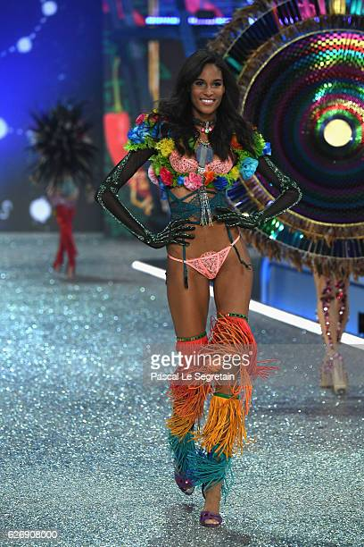 Cindy Bruna walks the runway at the Victoria's Secret Fashion Show on November 30 2016 in Paris France
