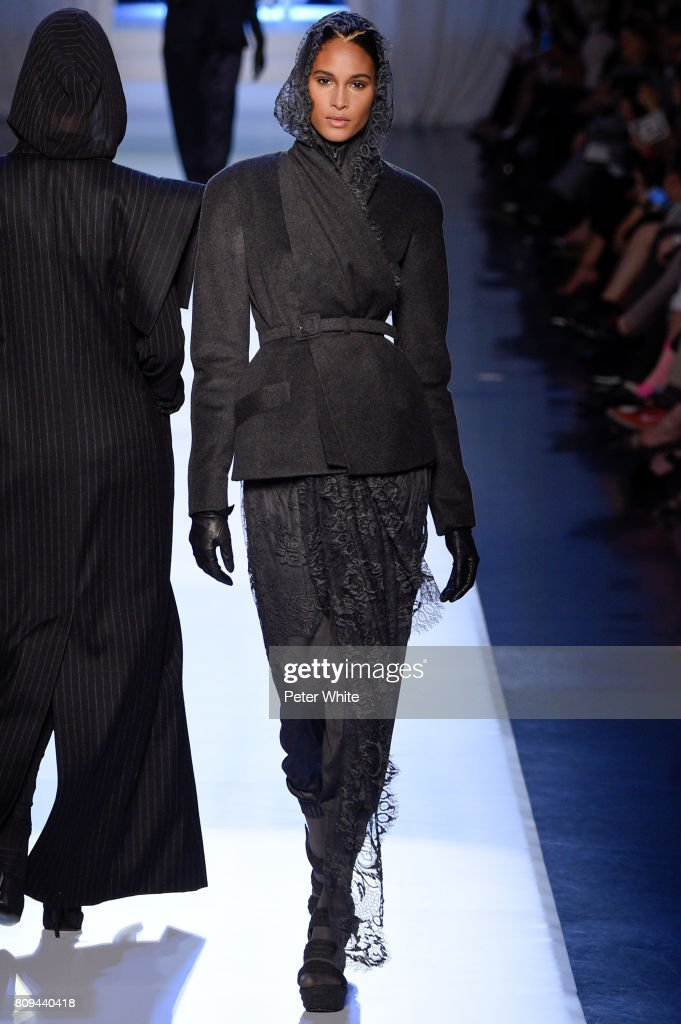 Cindy Bruna walks the runway during the Jean Paul Gaultier Haute Couture Fall/Winter 2017-2018 show as part of Haute Couture Paris Fashion Week on July 5, 2017 in Paris, France.