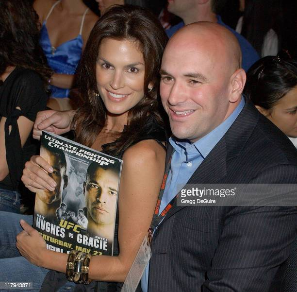 Cindy Crawford and Dana White UFC President during Celebrities Attend Ultimate Fighting Championship 60 Hughes vs Gracie at Staples Center in Los...