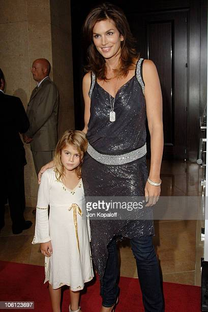 Cindy Crawford and daughter Kaya Jordan Gerber during Runway For Life Benefiting St Jude Children's Research Hospital Arrivals at Beverly Hilton in...