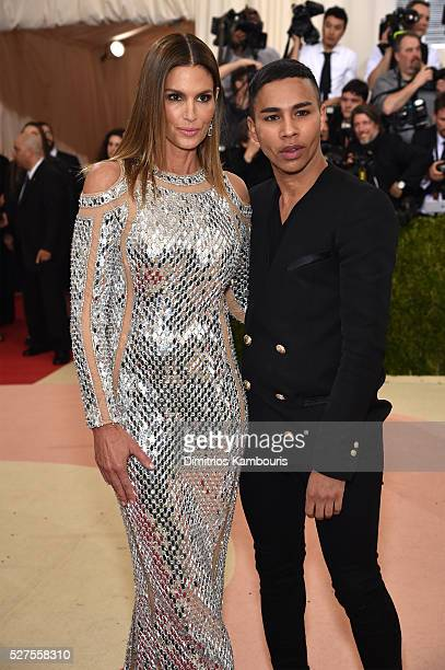 Cindy Crawford and designer Olivier Rousteing attend the 'Manus x Machina Fashion In An Age Of Technology' Costume Institute Gala at Metropolitan...