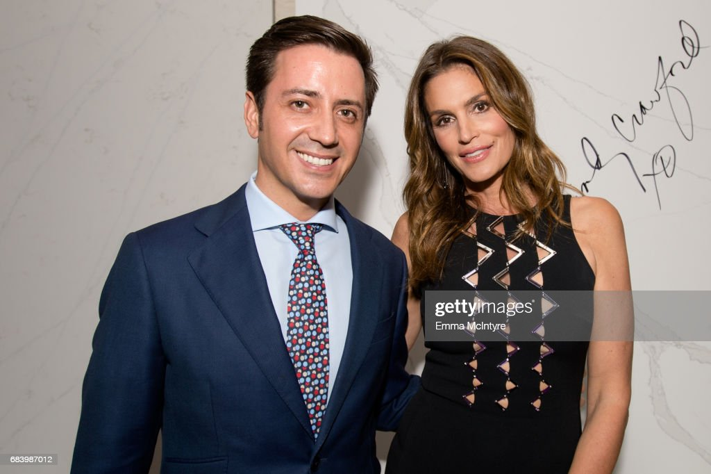 cindy crawford and eduardo cosentino attend cindy crawford and eduardo cosentinous new design alliance and launch