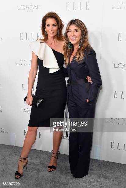 Cindy Crawford and ELLE EditorinChief Nina Garcia attend ELLE's 24th Annual Women in Hollywood Celebration presented by L'Oreal Paris Real Is Rare...