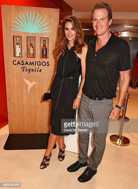 Cindy Crawford and Founder of Casamigos Tequila Rande Gerber attend as Casamigos founders Rande Gerber George Clooney and Mike Meldman host the...