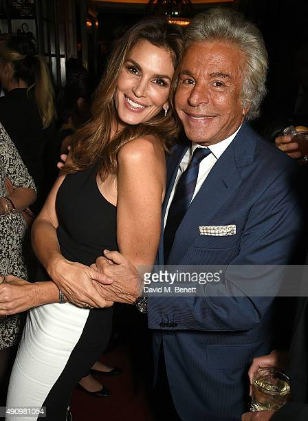 Cindy Crawford and Giancarlo Giammetti attend the London launch of Casamigos Tequila and Cindy Crawford's book 'Becoming' hosted by Rande Gerber...