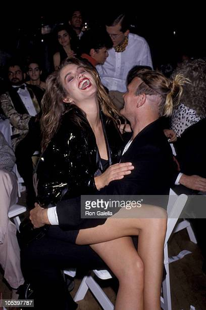 Cindy Crawford and guest during 'The Love Ball' AIDS Benefit May 10 1989 at Roseland Ballroom in New York City New York United States