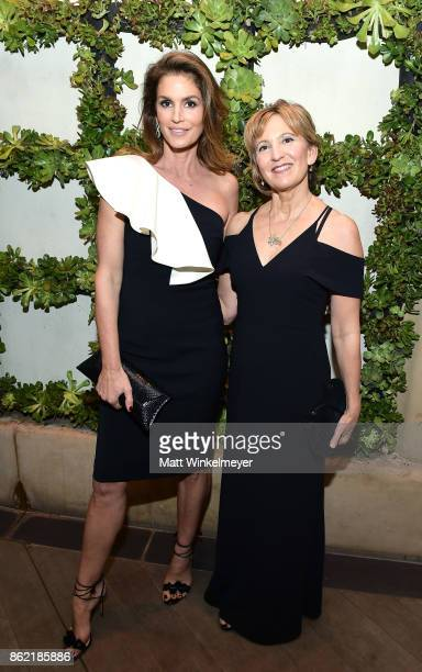 Cindy Crawford and Karen Benke attend ELLE's 24th Annual Women in Hollywood Celebration presented by L'Oreal Paris Real Is Rare Real Is A Diamond and...