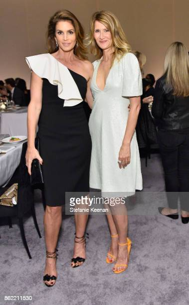 Cindy Crawford and Laura Dern attend ELLE's 24th Annual Women in Hollywood Celebration presented by L'Oreal Paris Real Is Rare Real Is A Diamond and...