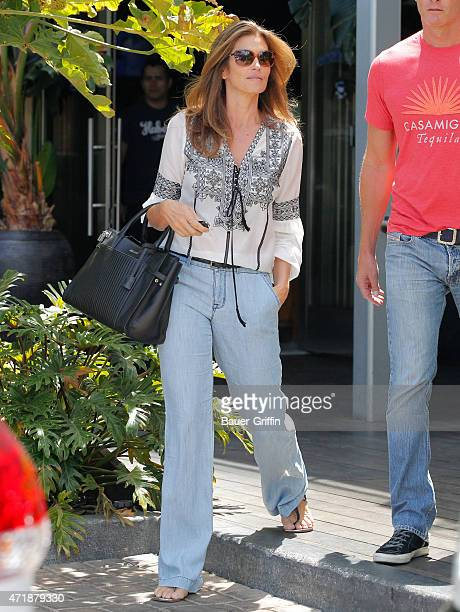 Cindy Crawford and Rande Gerber are seen in Los Angeles on May 01 2015 in Los Angeles California