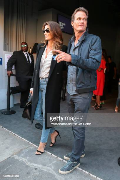 Cindy Crawford and Rande Gerber are seen on September 07 2017 in New York City