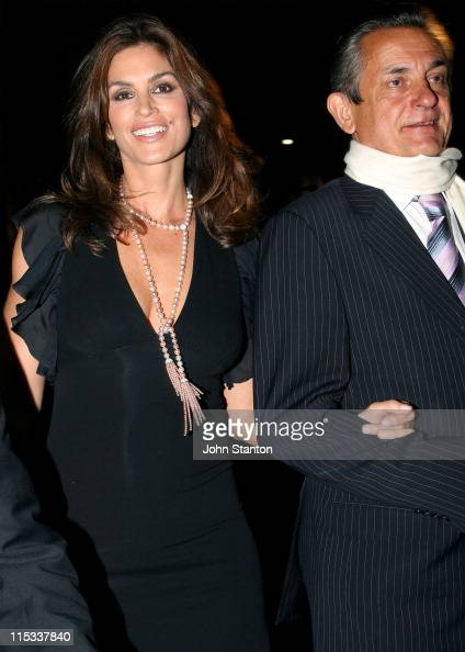 Cindy Crawford and Stephen Urquhart President of Omega Worldwide