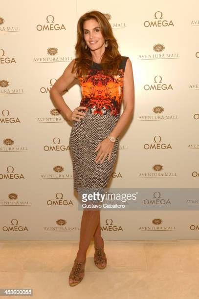 Cindy Crawford appears at OMEGA Boutique on December 4 2013 in Miami Florida