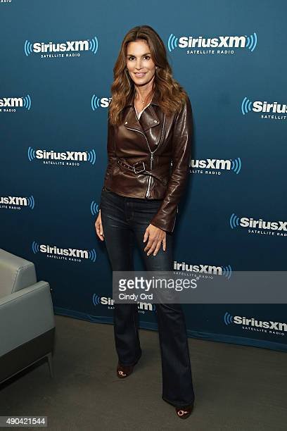 Cindy Crawford appears on 'SiriusXM Leading Ladies' series hosted By Jenny Hutt on September 28 2015 in New York City