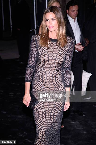 Cindy Crawford arrives to the Gilded Lily on May 2 2016 in New York City