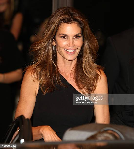 Cindy Crawford attending the Cindy Crawford 'Becoming' book launch and Casamigos Tequila launch party afterparty on October 1 2015 in London England