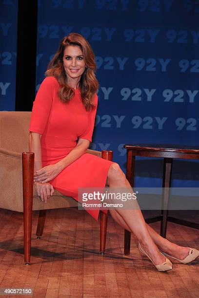 Cindy Crawford attends 92nd Street Y Presents Fashion Icons With Fern Mallis A Conversation with Cindy Crawdord at 92nd Street Y on September 29 2015...