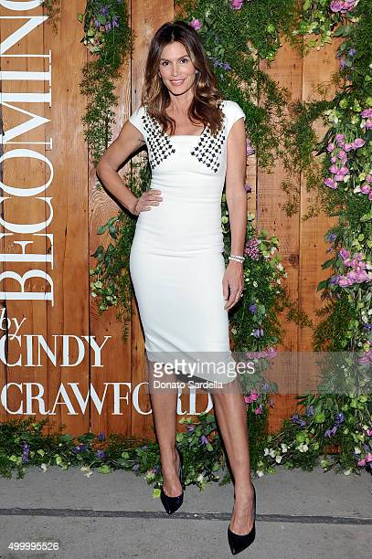 Cindy Crawford attends a book party in honor of 'Becoming' by Cindy Crawford hosted by Bill Guthy And Greg Renker at Eric Buterbaugh Floral on...