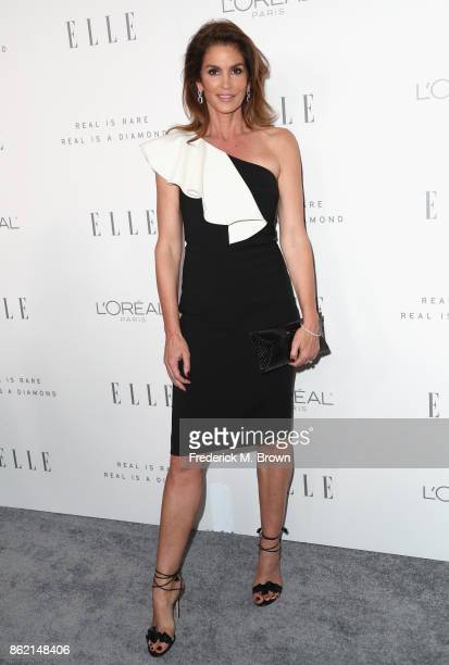 Cindy Crawford attends ELLE's 24th Annual Women in Hollywood Celebration at Four Seasons Hotel Los Angeles at Beverly Hills on October 16 2017 in Los...