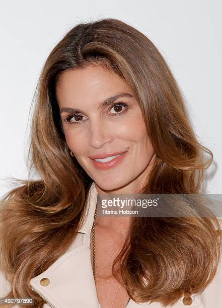 Cindy Crawford attends Live Talks Los Angeles at Moss Theatre at New Roads School on October 14 2015 in Santa Monica California