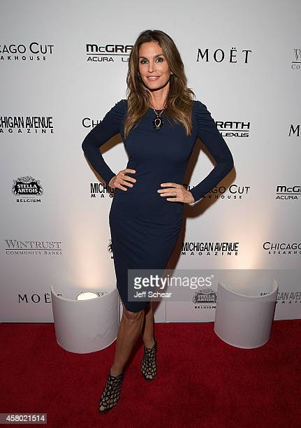 Cindy Crawford attends Michigan Avenue Magazine's November Issue Release Celebration With Cindy Crawford at Chicago Cut Steakhouse on October 28 2014...