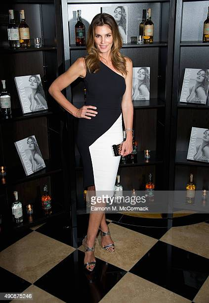 Cindy Crawford attends the Casamingos Tequila Cindy Crawford book launch party at The Beaumont Hotel on October 1 2015 in London England