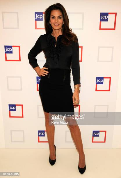 Cindy Crawford attends the jcpenney launch event at Pier 57 on January 25 2012 in New York City