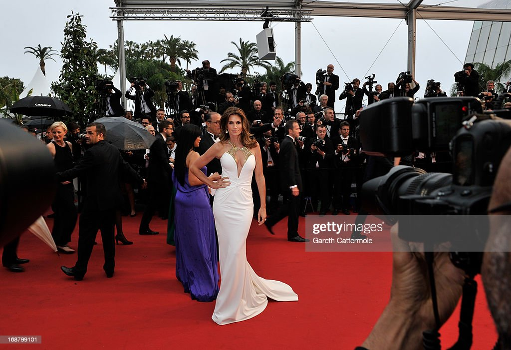 Cindy Crawford attends the Opening Ceremony and 'The Great Gatsby' Premiere during the 66th Annual Cannes Film Festival at the Theatre Lumiere on May 15, 2013 in Cannes, France.