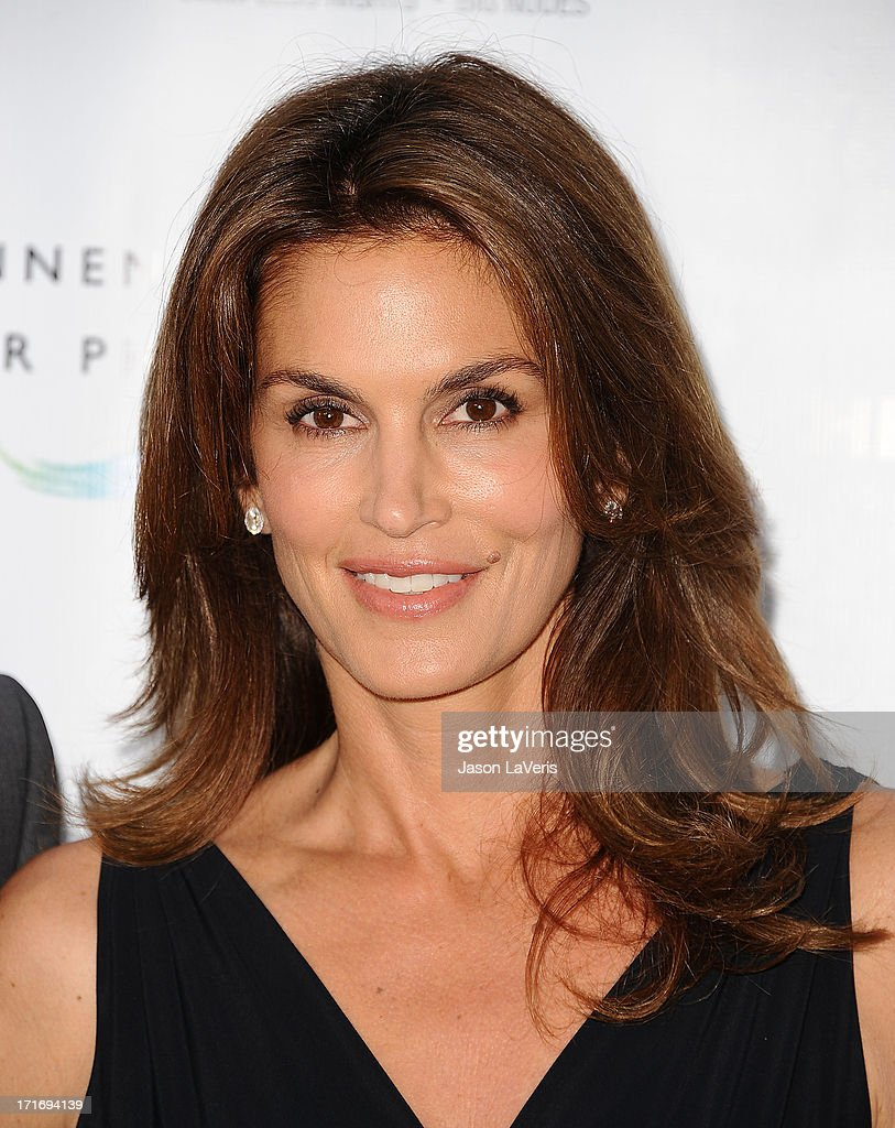 Cindy Crawford attends the opening of 'Helmut Newton: White Women - Sleepless Nights - Big Nudes' at Annenberg Space For Photography on June 27, 2013 in Century City, California.