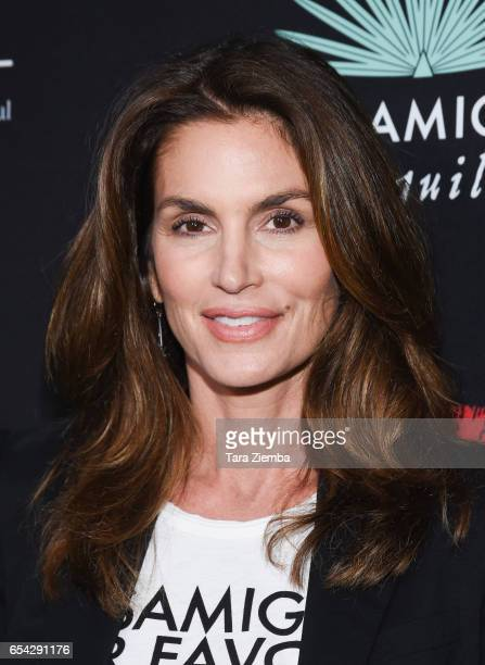 Cindy Crawford attends the Umami Burger and Cindy Crawford artist series launch held at Umami Burger Santa Monica on March 16 2017 in Santa Monica...