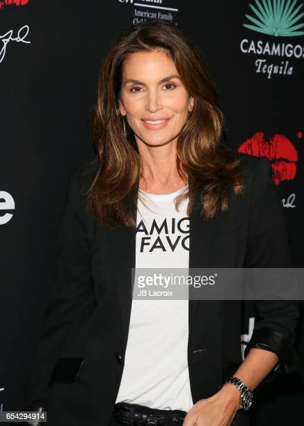 Cindy Crawford attends the Umami Burger x Cindy Crawford artist series launch on March 16 2017 in Beverly Hills California