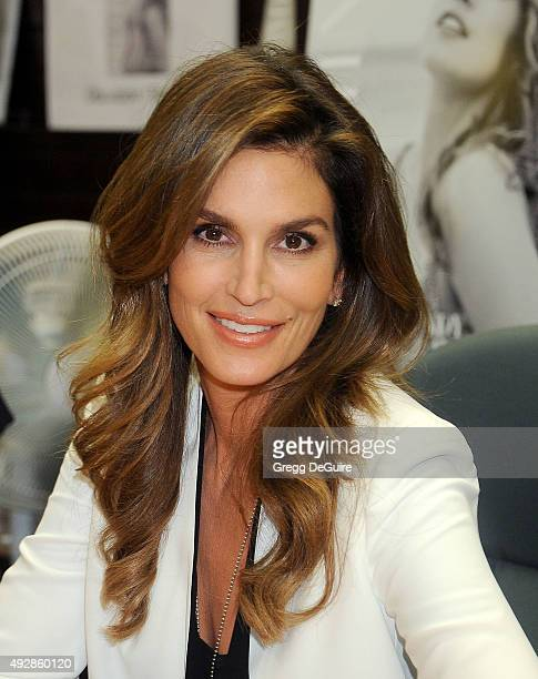 Cindy Crawford book signing for 'Becoming Cindy Crawford' at Barnes Noble at The Grove on October 15 2015 in Los Angeles California