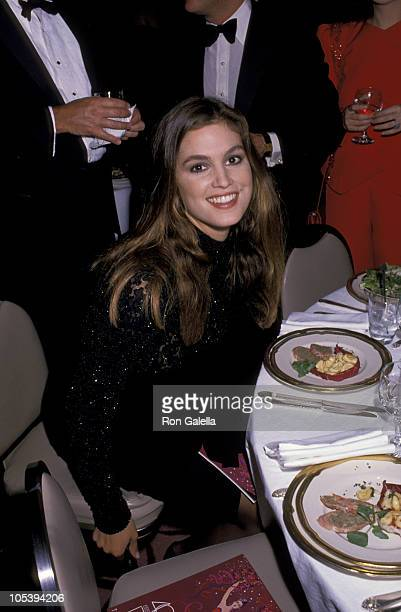 Cindy Crawford during 1989 Fragrance Foundation Ball at The WalforfAstoria Hotel in New York City New York United States