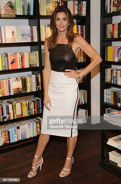 Cindy Crawford is seen at Books and Books Bal Harbour to promote her new book 'Becoming' on October 6 2015 in Bal Harbour Florida