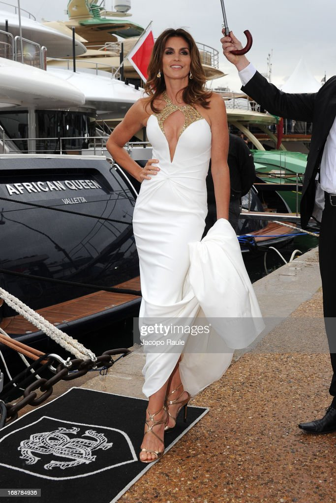 <a gi-track='captionPersonalityLinkClicked' href=/galleries/search?phrase=Cindy+Crawford&family=editorial&specificpeople=202842 ng-click='$event.stopPropagation()'>Cindy Crawford</a> is seen during The 66th Annual Cannes Film Festival on May 15, 2013 in Cannes, France.