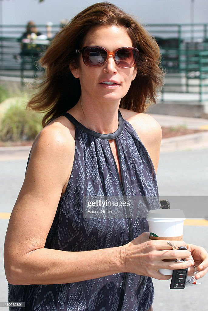 Cindy Crawford is seen on March 23, 2014 in Los Angeles, California.