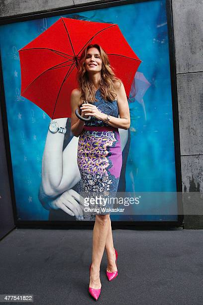 Cindy Crawford Launches Omega Constellation Pluma Collection at Omega Store on June 18 2015 in Mumbai India