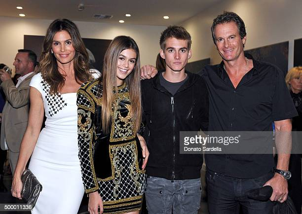 Cindy Crawford model Kaia Jordan Gerber Presley Walker Gerber and businessman Rande Gerber attend a book party in honor of 'Becoming' by Cindy...