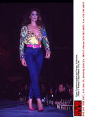 Cindy Crawford Models the Versace Collection