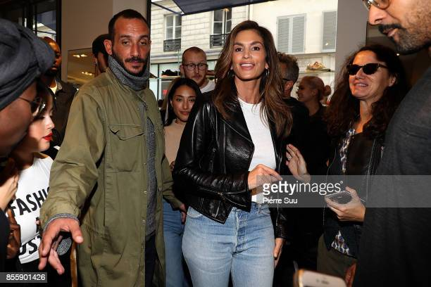 Cindy Crawford Presents Re/Done Collection At Colette as part of the Paris Fashion Week Womenswear Spring/Summer 2018 on September 30 2017 in Paris...