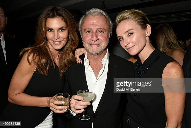 Cindy Crawford Raffy Manoukian and Jo Manoukian attend the London launch of Casamigos Tequila and Cindy Crawford's book 'Becoming' hosted by Rande...
