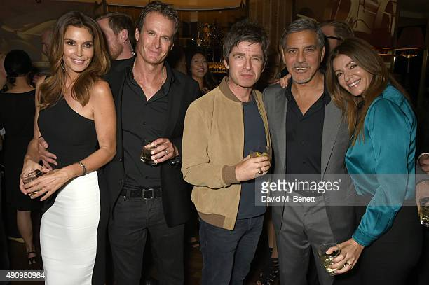 Cindy Crawford Rande Gerber Noel Gallagher George Clooney and Sara MacDonald attend the London launch of Casamigos Tequila and Cindy Crawford's book...