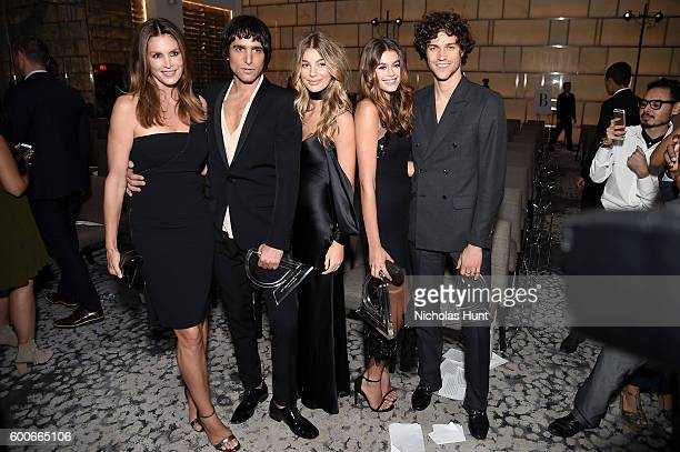 Cindy Crawford Sebastian Faena Cami Morrone and Miles McMillian attend the The Daily Front Row's 4th Annual Fashion Media Awards at Park Hyatt New...