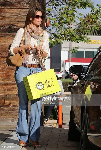 Cindy Crawford seen shopping in Malibu on February 23 2015 in Los Angeles California