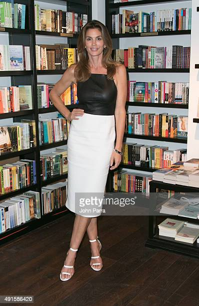 Cindy Crawford signs copies of her book 'Becoming' at Books and Books on October 6 2015 in Bal Harbour Florida